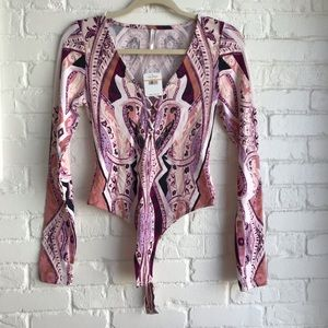 NWT Free People Long sleeve Bodysuit SZ Small